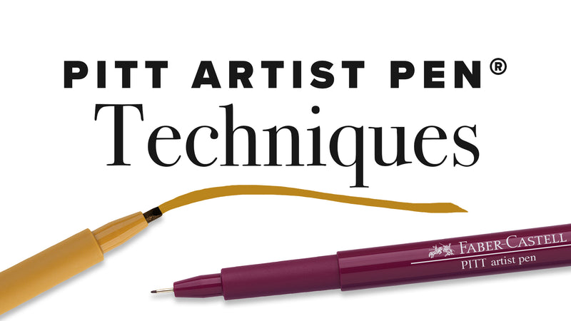 Two Pitt Artist Pens. One pen drawing a line.