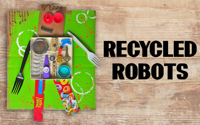 Recycled Robots Earth Day Craft for Kids