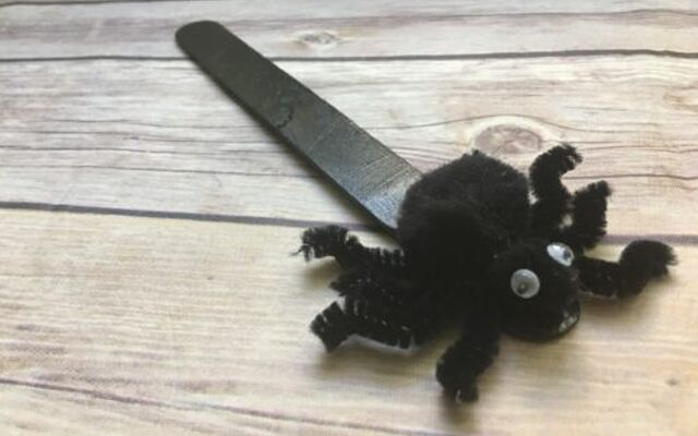 Spooky Spider Bookmark Halloween Craft