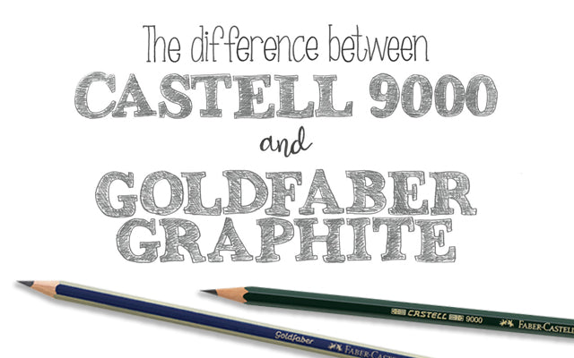 The Difference Between Castell 9000 and Goldfaber Graphite Pencils