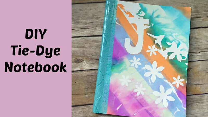 DIY Tie-Dye Notebook