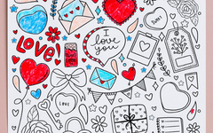 Valentine's Day Printable Coloring Page