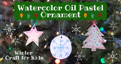 Watercolor Ornament Winter Craft for Kids