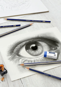 Goldfaber Graphite Pencils and Graphite Eye Sketch