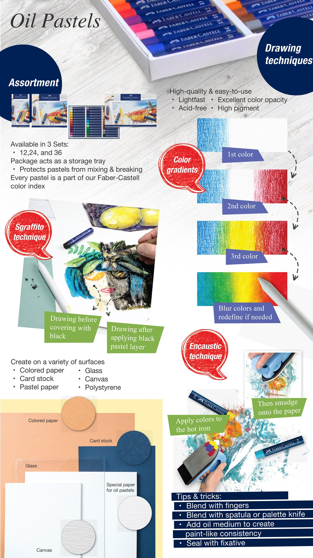 Oil Pastel Infographic