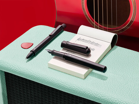 Black Hexo pens with guitar