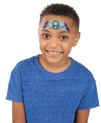 Child with Halloween face paint