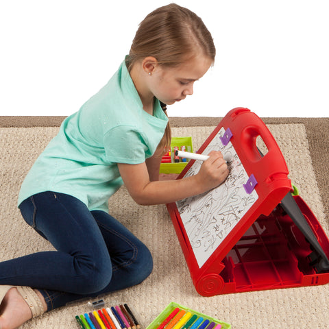 Child with Do Art Travel Easel