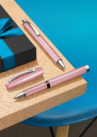 Two pink pens with gift box