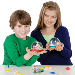 Christmas Craft for Kids - Kids Holding Holiday Snow Globes