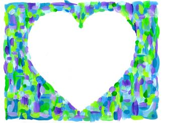 Heart outlined painting