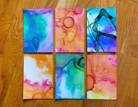 Watercolor paint notecards