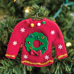 Christmas Craft for Kids - Sweater Ornament on Christmas Tree