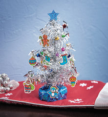 Christmas Crafts for Kids - Shrink Fun Tinsel Tree