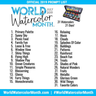 World Watercolor Month Prompt