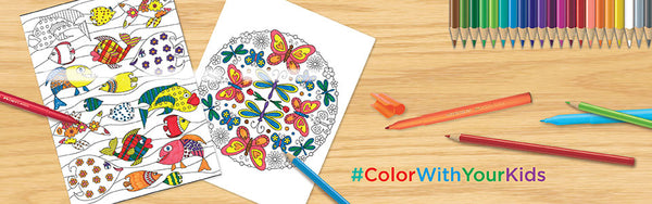 Kids Coloring Pages and Colored Pencils
