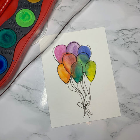 Connector Paints and Watercolor Balloons