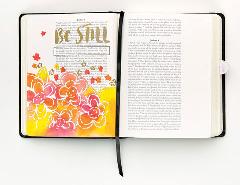 Bible Journaling page with Gelatos art and hand lettering