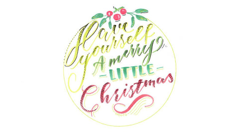 Christmas card hand lettering