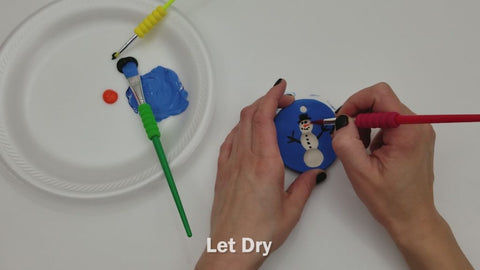 Paint Clay and Let Dry