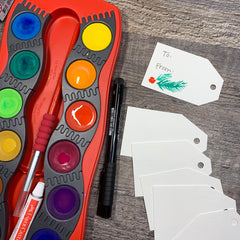 DIY Christmas Gift Tags and Connector Paints