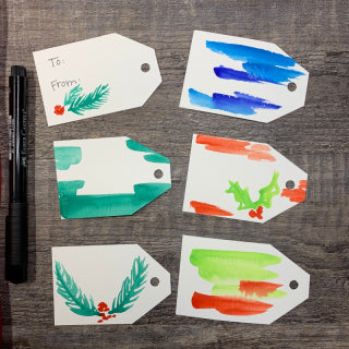 DIY Christmas Gift Tags Painted