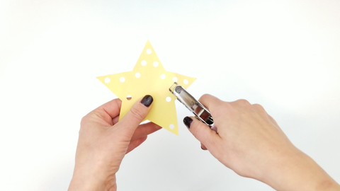 Construction Paper Star Ornament with Hole Punch