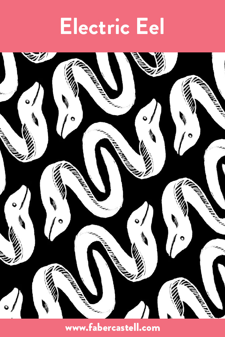 pages png - Eel Png Black And White - Electric Eel Colouring Pages ... | 1100x735