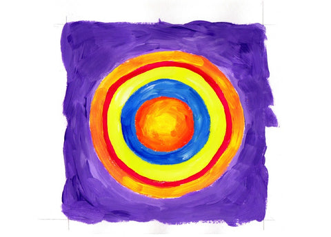 Painting Art Lesson - Concentric Circles