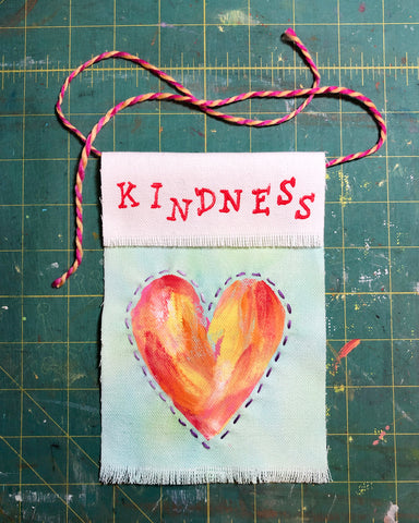 Earth day kindness flag