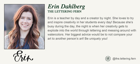 Artist Biography - Erin Dahlberg - The Lettering Fern