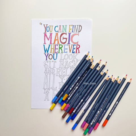 Lettering with Goldfaber Color Pencils