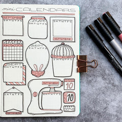 How to Draw Bullet Journal Calendar Doodles