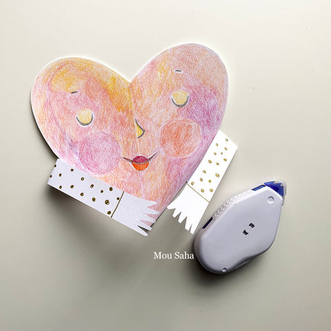 Paper heart with arms