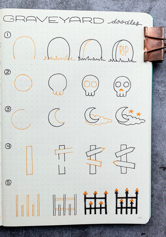 Bullet Journal with Halloween Doodle Tutorial
