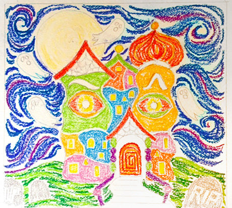 Colored Hundertwasser Haunted House
