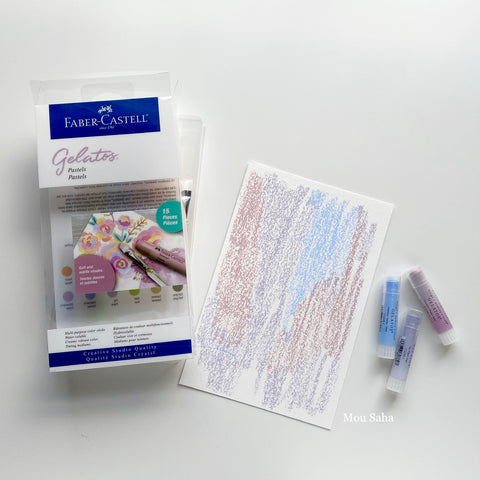 Pastel Gelatos Set with Paper