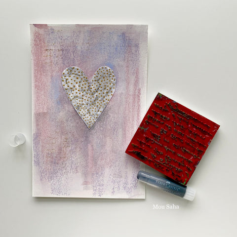 Valentine's Day card with Gelatos and Stamp