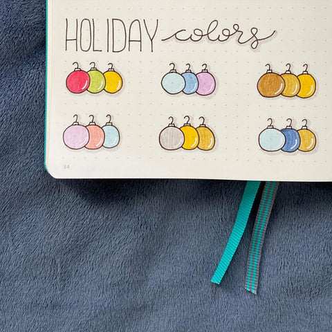 Bullet Journaling Doodles Holiday Colors
