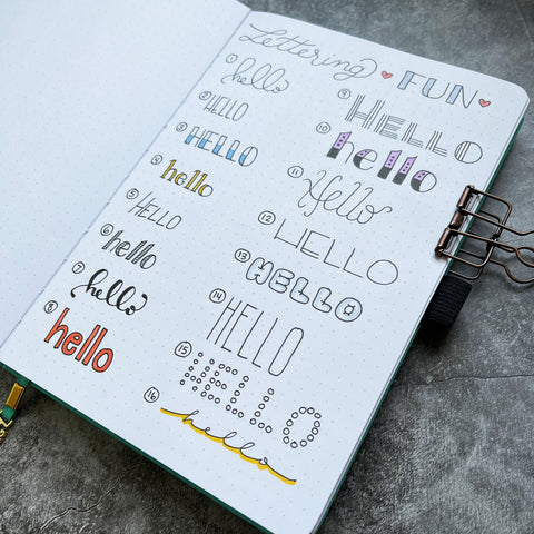 Bullet Journal with lettering