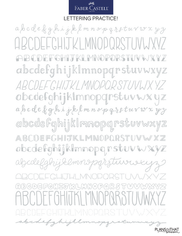 Lettering page