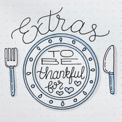 Extras to be Thankful for Bullet Journal Doodle