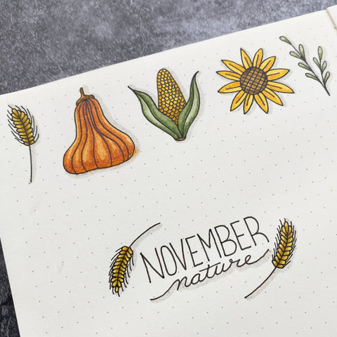 November Nature Doodles