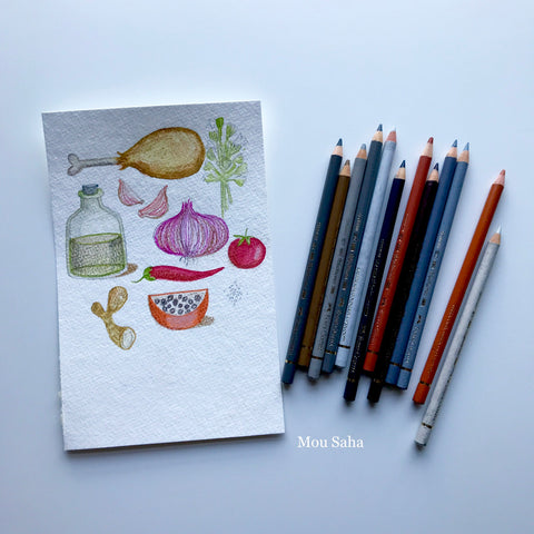 Recipe Doodles with Polychromos Color Pencils