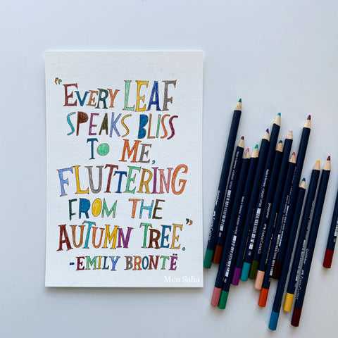 Hand lettering with Goldfaber Color Pencils