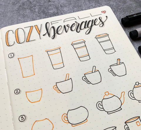 Cozy Beverage Doodles