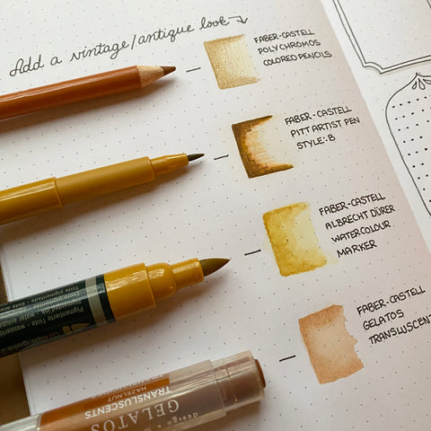 Bullet Journal with Faber-Castell products