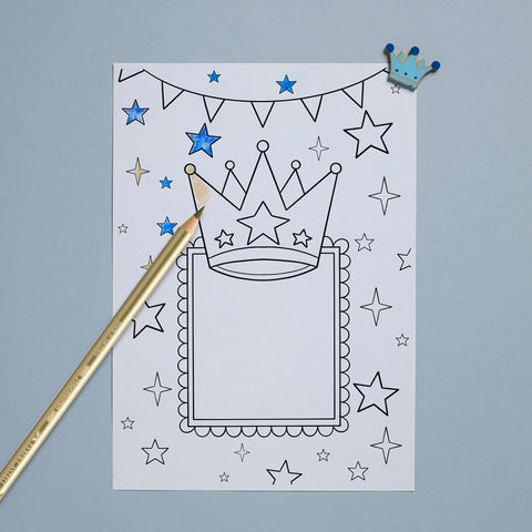 Fathers Day card and pencil