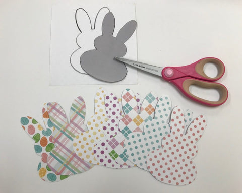 Bunny cut outs with scissors