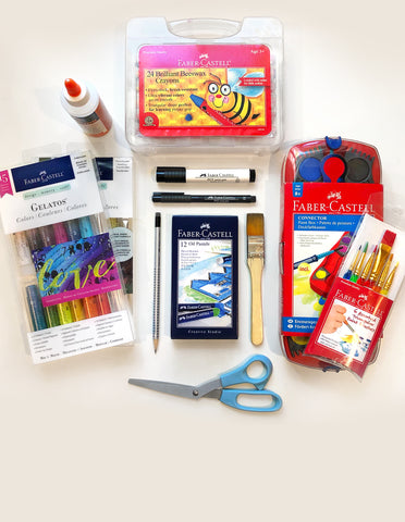 Art lesson supplies